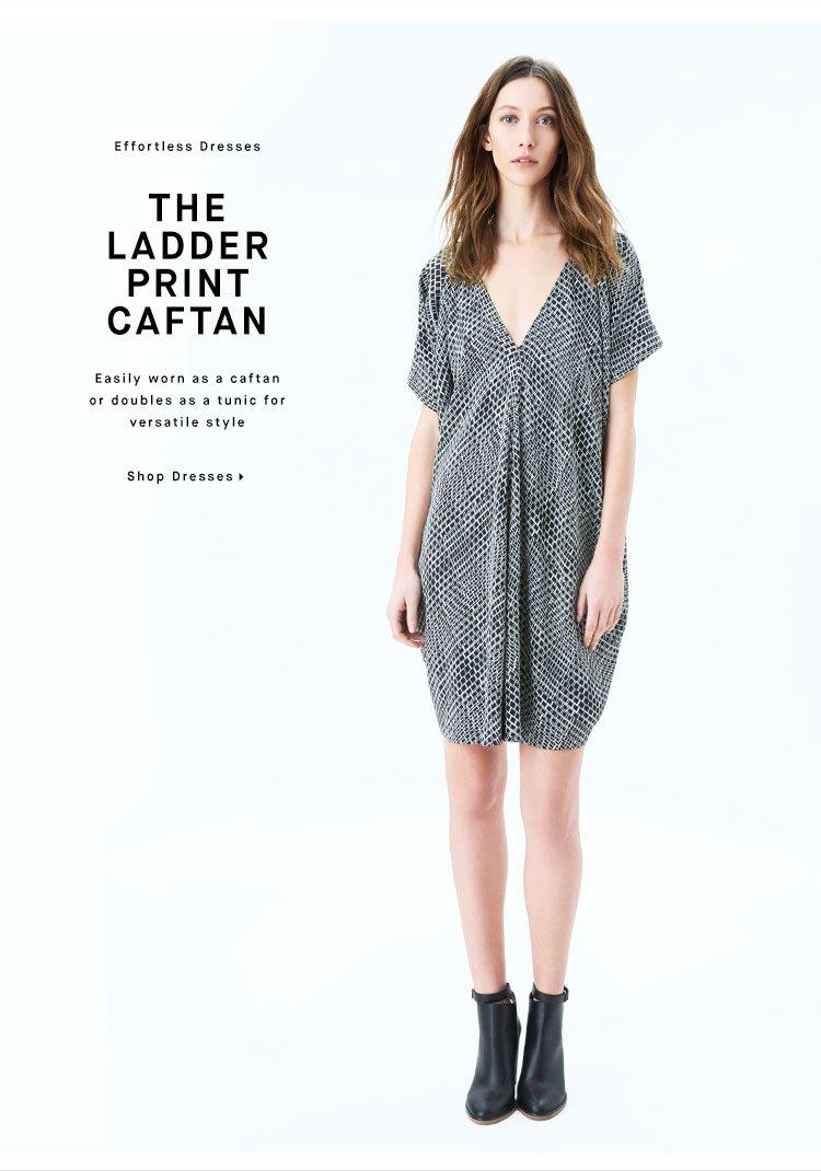 THE LADDER PRINT CAFTAN - Shop Dresses