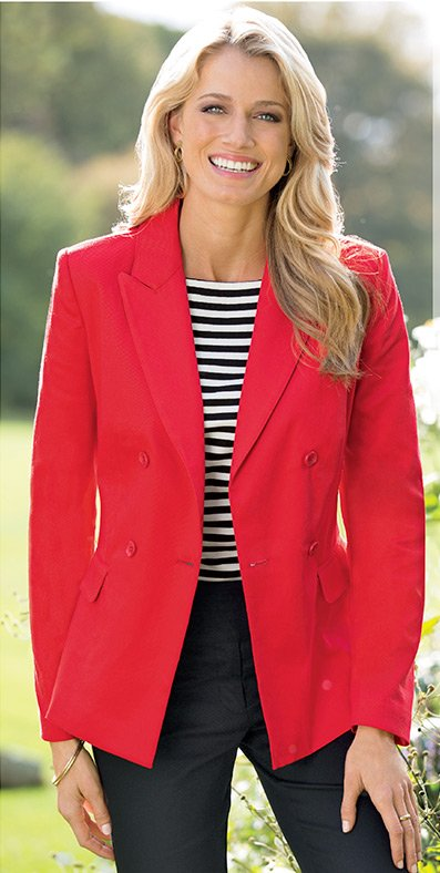 JG HOOK® Double-breasted sateen blazer only $69.99