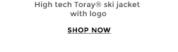 High tech Toray® ski jacket with logo