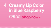 Creamy Lip Color in Blue Raspberry, $25.00  Shop Now »