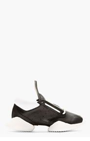 RICK OWENS Black Leather Island Sole adidas Edition Sneakers for women