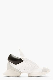 RICK OWENS White Leather Island Sole adidas Edition Sneakers for women