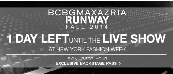 SIGN UP FOR YOUR EXCLUSIVE BACKSTAGE PASS