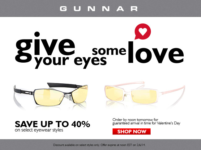 Share some GUNNARS with the one you love - Save up to 40% on Valentine's Selection!