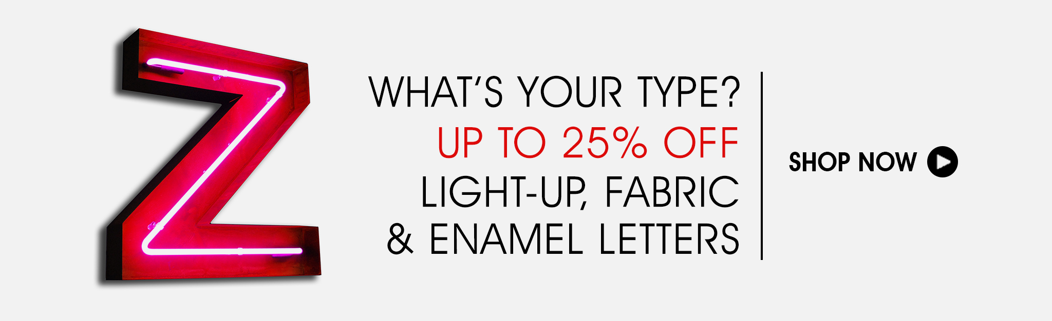Up To 25% Off Light-Up, Fabric & Enamel Letters