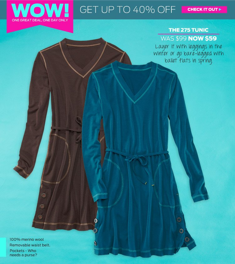 Today's WOW: The 275 Tunic / was $99, now $59 >