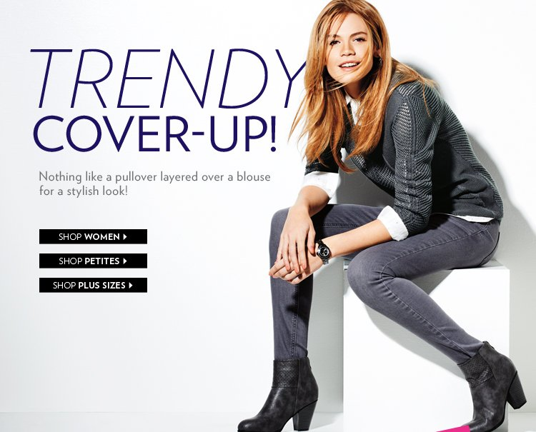 Trendy Cover-Up! Nothing like a pullover layered over a blouse for a stylish look!