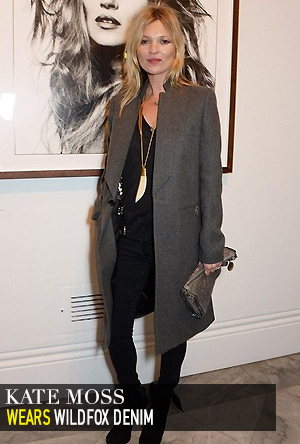 Kate Moss in Wildfox Denim.