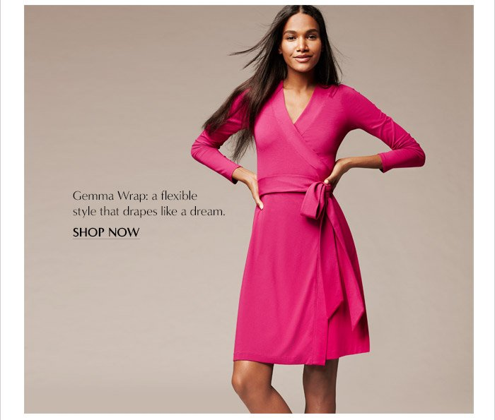 Gemma Wrap: a flexible stlye that drapes like a dream. | SHOP NOW