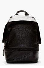 3.1 PHILLIP LIM Black Grained Leather Biker Backpack for men