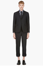 THOM BROWNE Grey Two-Piece Wool Suit for men