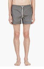 THOM BROWNE Grey Check Swim Shorts CHECK SWIM SHORTS for men