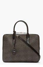 SAINT LAURENT Black Studded Museum Briefcase for men