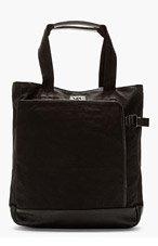 Y-3 Ink black Canvas SHOPPER TOTE bag for men