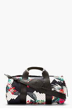 3.1 PHILLIP LIM Navy Tropical Print Duffle Bag for men