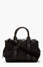 BELSTAFF Black Hybrid Weekender Briefcase for men