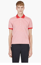 THOM BROWNE Red Placket Accent Polo for men