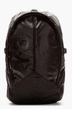 Y-3 Black Graph Print Mesh-Back Backpack for men
