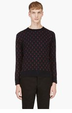 THOM BROWNE Navy Anchor Sweater for men