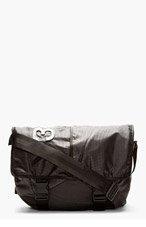 Y-3 Black Graph-Print Messenger Bag for men