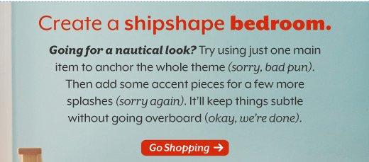 Create a shipshape bedroom.