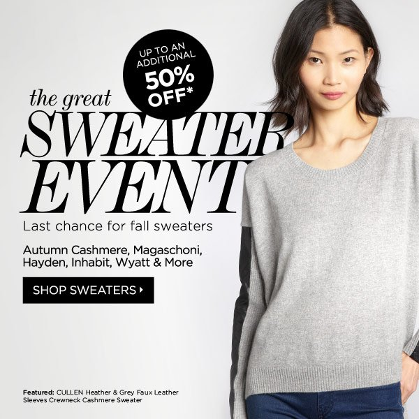 The Sweater Event Up to 50% Off