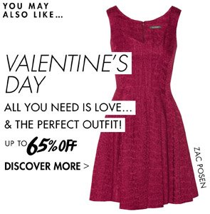 VALENTINE'S DAY OUTFITS UP TO 65% OFF