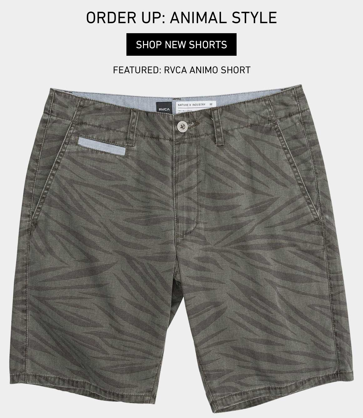 Order Up: Animal Style - Shop New Shorts