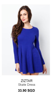 ZIZTAR Skater Dress - 33.90SGD