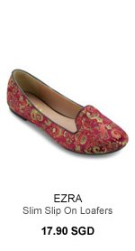 EZRA Loafers With Flowers - 17.90 SGD