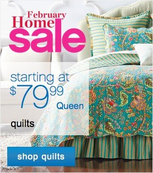 February Home Sale. Shop quilts.