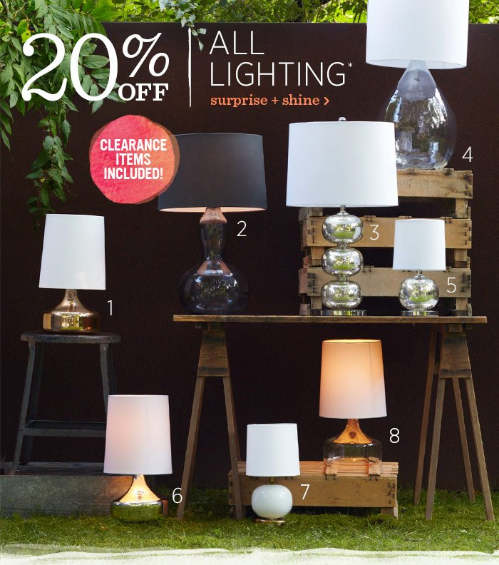 20% Off All Lighting*