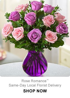 Rose Romance™ Same-Day Local Florist Delivery Shop Now