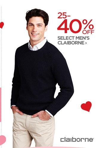 25-40% OFF SELECT MEN'S CLAIBORNE ›