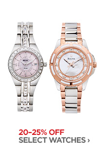 20-25% OFF SELECT WATCHES ›