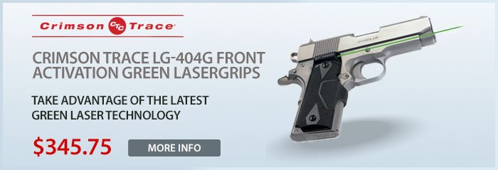 Crimson Trace LG-404G Front Activation Green Lasergrips for 1911 Pistols