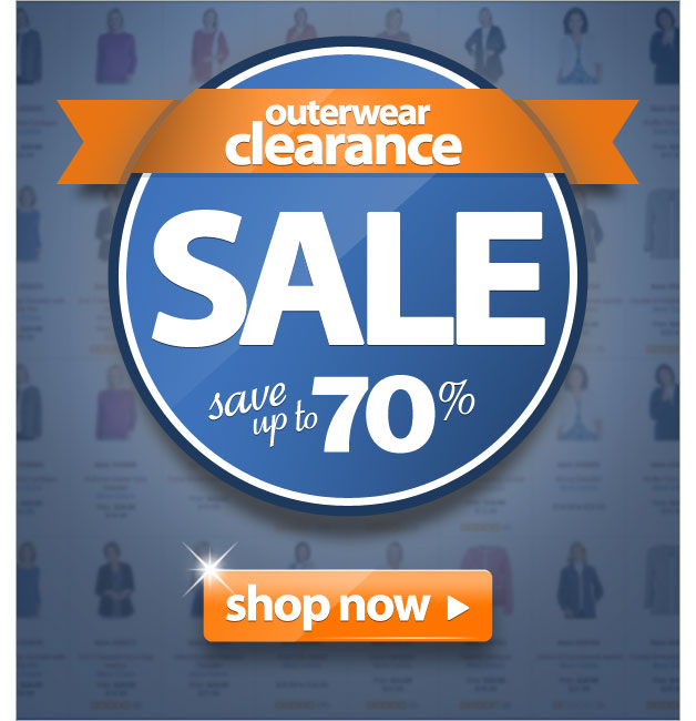 Outerwear Clearance SALE - Save up to 70% - Shop Now