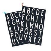 Design Letters, Kitchen Towel Set of 2, Black