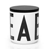 Design Letters, Jar, Black Lid