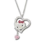 Hello Kitty Iconic Heart Pendant, Light Rose