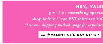 hey, valentine. shop valentine's day gifts.