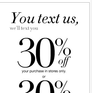 Text SAVE to NYSTYL & Save 30% Off Your Next Purchase!