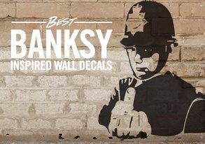 Shop Best Banksy-Inspired Wall Decals
