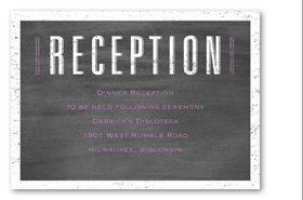 Pretty Proclamation Reception Card