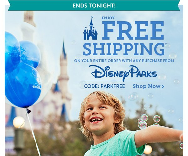 Ends Tonight! Enjoy Free Shipping on your entire order with any purchase from Disney Parks CODE: PARKFREE | Shop Now