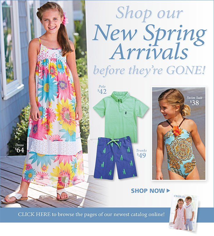 Shop our new Spring Arrivals