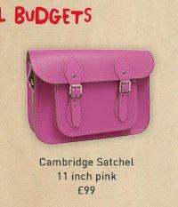 cambridge satchel 11 inch pink