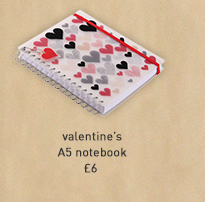 valentine's a5 notebook