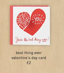 best thing ever valentine's day card
