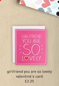 girlfriend you are so lovely valentine's card